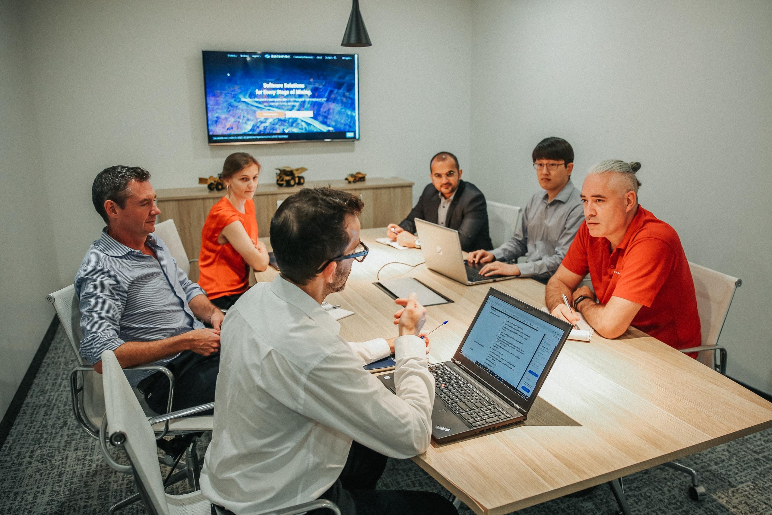 Team meeting at Datamine boardroom